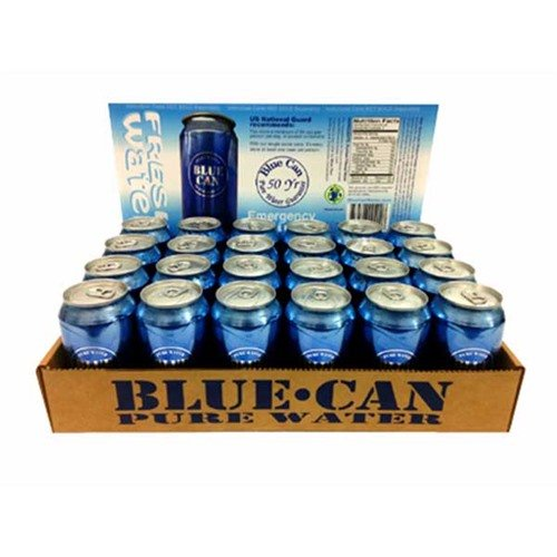 Blue Can Water-24 Pack