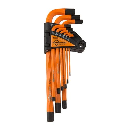 9pc SAE Twisted Hex Key Allen Set