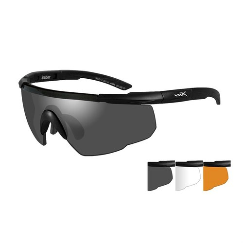 WX Saber Advanced-Black Frame-Grey/Clear/Rust Lens